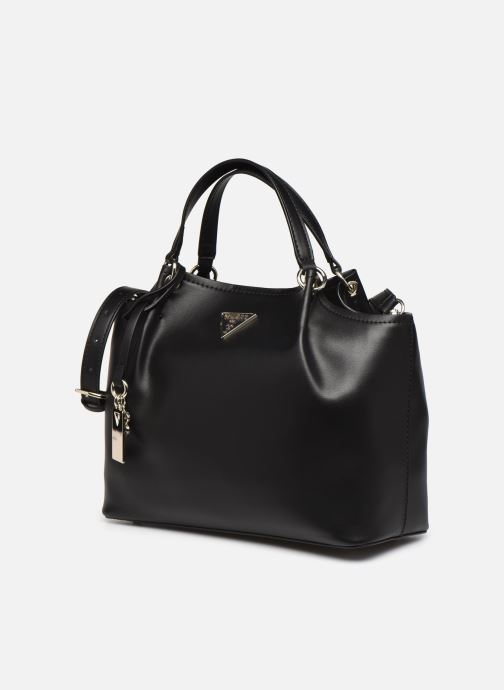Bolsos de mano Guess TANGEY GIRLFRIEND  SATCHET Negro vista del modelo