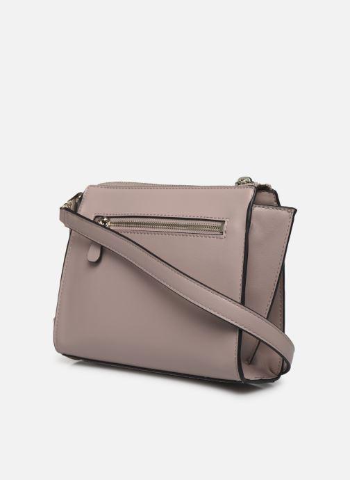 Handtaschen Guess TANGEY MINICROSSBODY TOP ZIP rosa ansicht von rechts