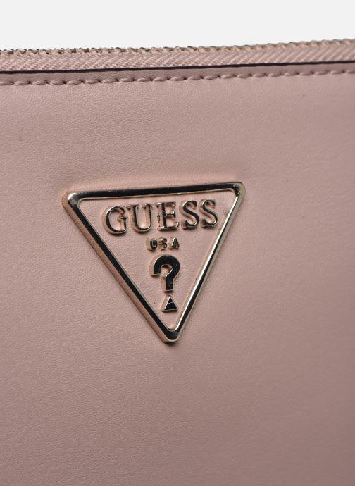 Handtaschen Guess TANGEY MINICROSSBODY TOP ZIP rosa ansicht von hinten