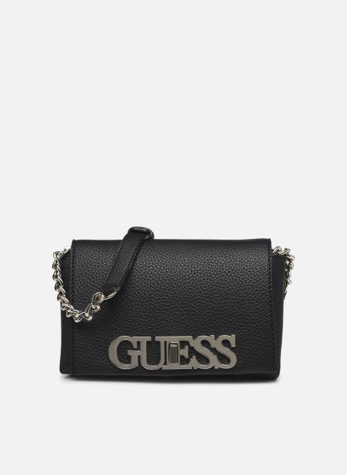 Handtaschen Guess UPTOWN CHIC  MINI XBODY FLAP schwarz detaillierte ansicht/modell