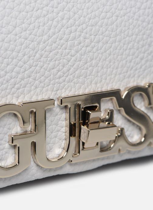 Borse Guess UPTOWN CHIC  MINI XBODY FLAP Bianco immagine sinistra