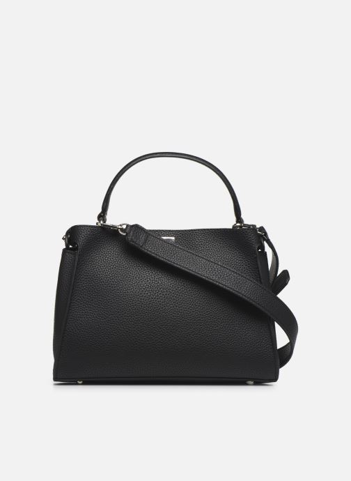 Borse Guess UPTOWN CHIC  TURNLOCK SATCHEL Nero immagine frontale