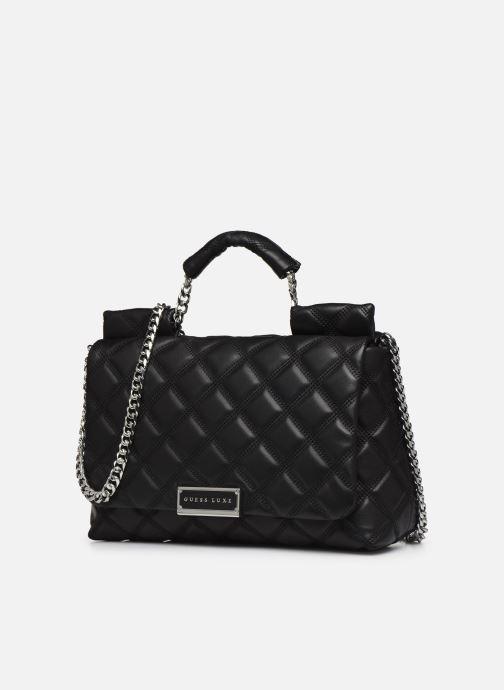 Handtaschen Guess CORAL TOP  HANDLE FLAP schwarz schuhe getragen