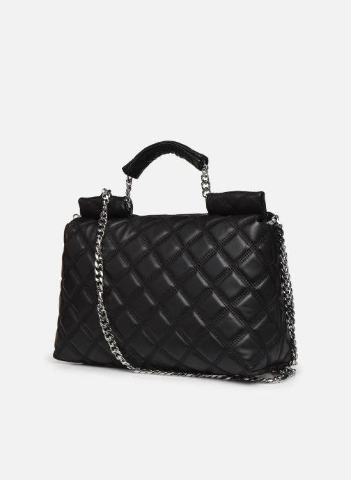 Handtaschen Guess CORAL TOP  HANDLE FLAP schwarz ansicht von rechts