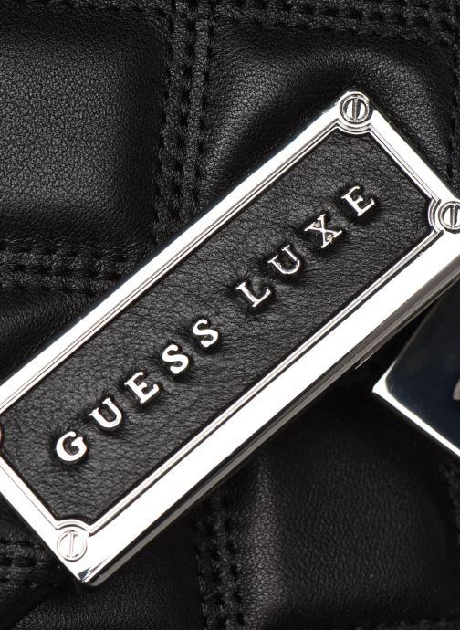Handtaschen Guess CORAL TOP  HANDLE FLAP schwarz ansicht von links