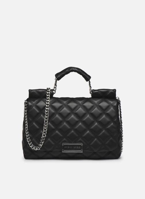 Handtaschen Guess CORAL TOP  HANDLE FLAP schwarz detaillierte ansicht/modell