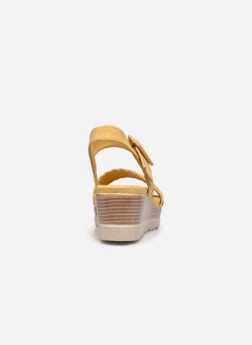 Sandales et nu-pieds Xti 44003 Jaune vue droite