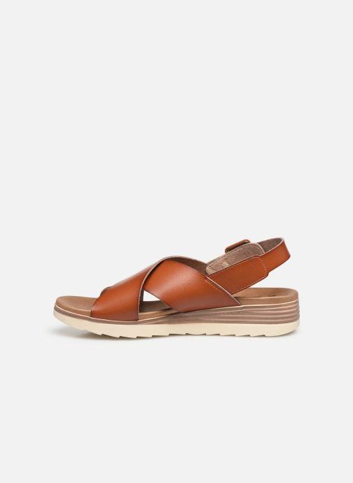 Sandales et nu-pieds Xti 49844 Marron vue face