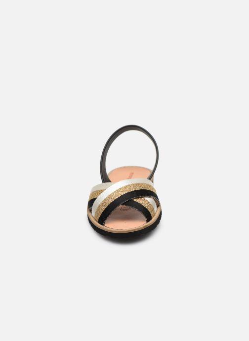Sandales et nu-pieds MINORQUINES AVARCA RAFEL Or et bronze vue portées chaussures
