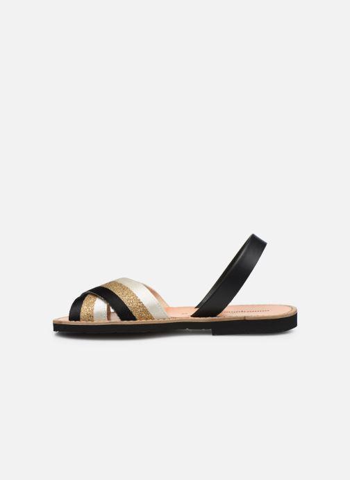 Sandales et nu-pieds MINORQUINES AVARCA RAFEL Or et bronze vue face