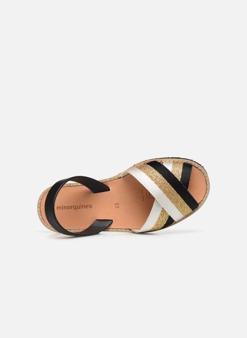 Sandales et nu-pieds MINORQUINES AVARCA RAFEL Or et bronze vue gauche