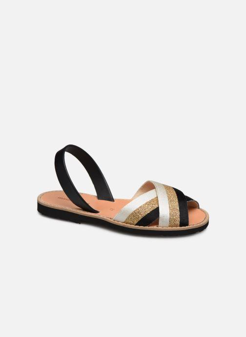 Sandales et nu-pieds MINORQUINES AVARCA RAFEL Or et bronze vue détail/paire