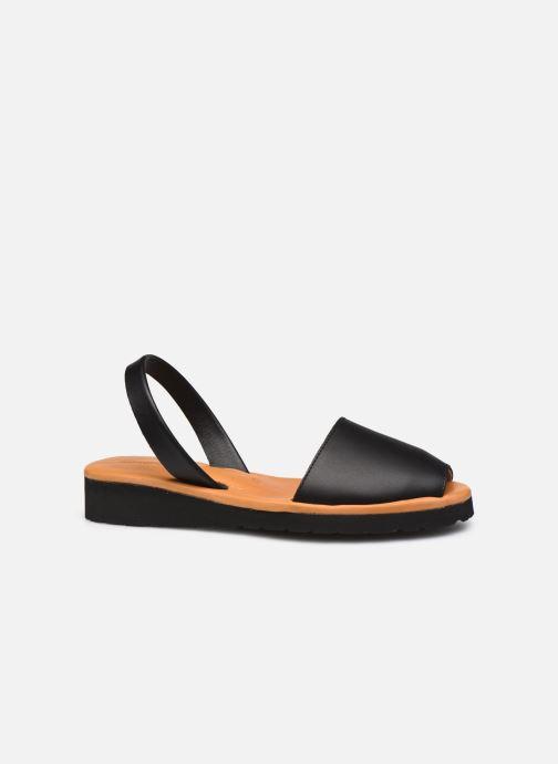 Sandales et nu-pieds Minorquines Avarca Platja Noir vue derrière