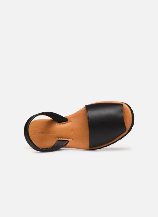 Sandales et nu-pieds Minorquines Avarca Platja Noir vue gauche