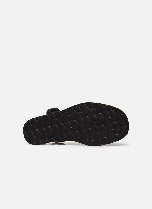 Sandales et nu-pieds Minorquines Avarca Platja Noir vue haut