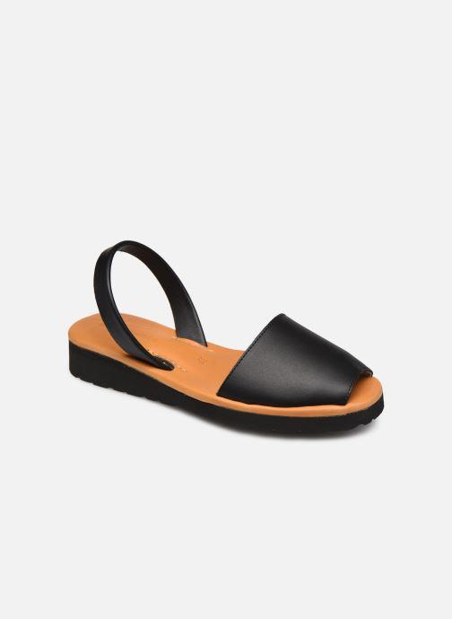 Sandales et nu-pieds Minorquines Avarca Platja Noir vue détail/paire