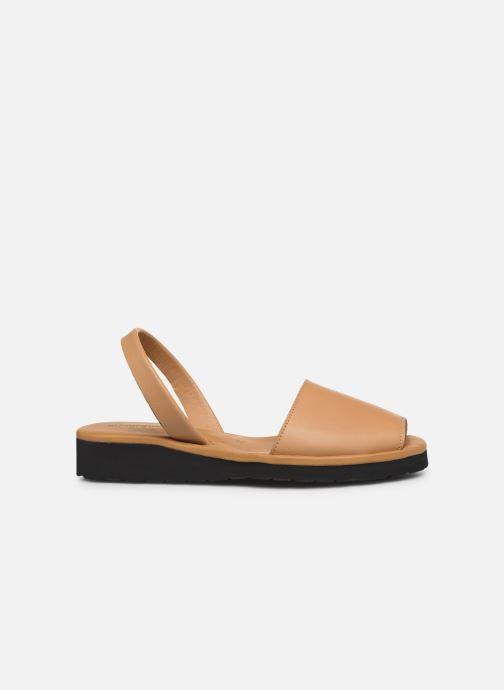 Sandales et nu-pieds Minorquines Avarca Platja Marron vue derrière