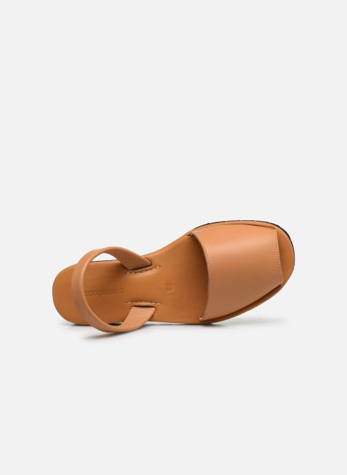 Sandales et nu-pieds Minorquines Avarca Platja Marron vue gauche