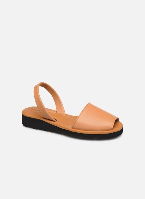Sandales et nu-pieds Minorquines Avarca Platja Marron vue détail/paire