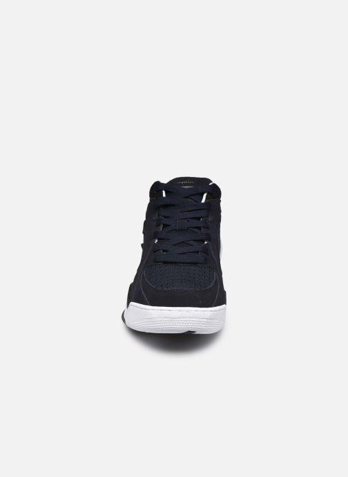 Baskets Champion Mid Cut Shoe Zone Mid Mesh Bleu vue portées chaussures
