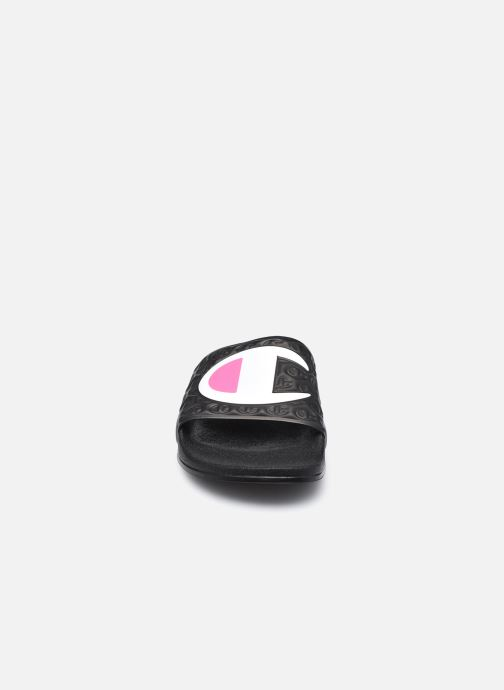 Sandalen Champion Slide M-EVO schwarz schuhe getragen