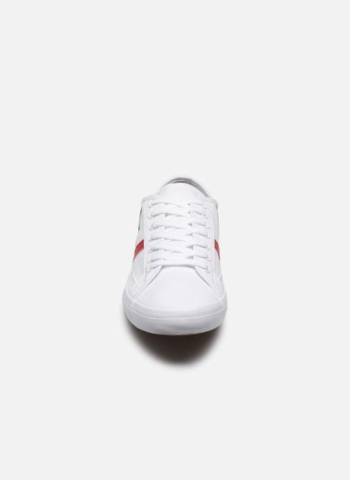 Baskets Lacoste Sideline Tri2 Cma Blanc vue portées chaussures