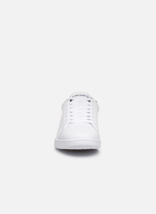 Sneaker Lacoste Carnaby Evo Tri1 Sma weiß schuhe getragen