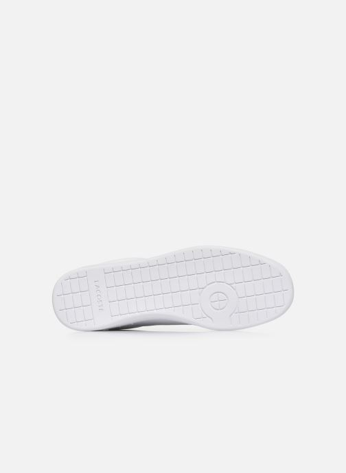 Baskets Lacoste Carnaby Evo Tri1 Sma Blanc vue haut