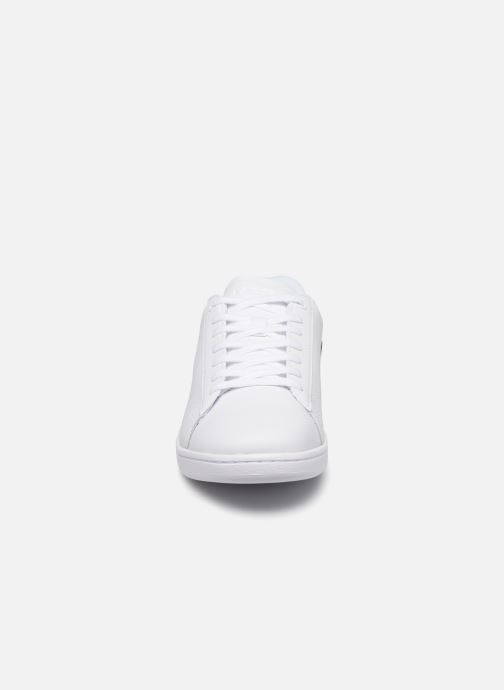 Baskets Lacoste Carnaby Evo 120 7 Us Sma Blanc vue portées chaussures