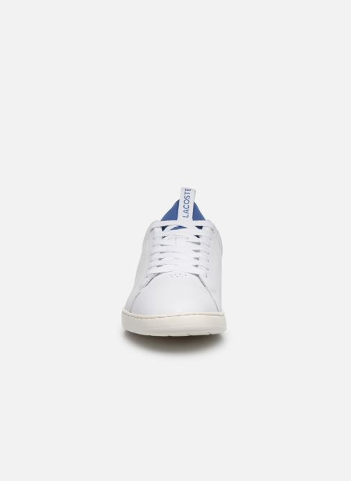 Baskets Lacoste Carnaby Evo Light-Wt 1201Sma Blanc vue portées chaussures
