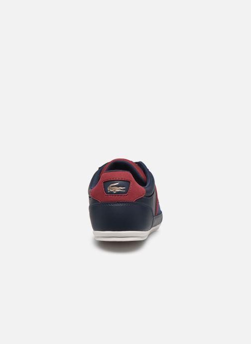 Baskets Lacoste Nvy/Dk Red Bleu vue droite