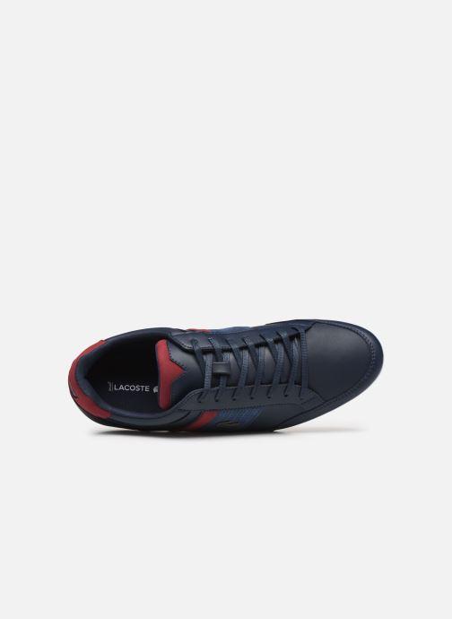 Baskets Lacoste Nvy/Dk Red Bleu vue gauche