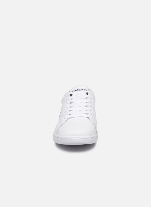 Baskets Lacoste Carnaby Evo Tri 1 Sfa Blanc vue portées chaussures