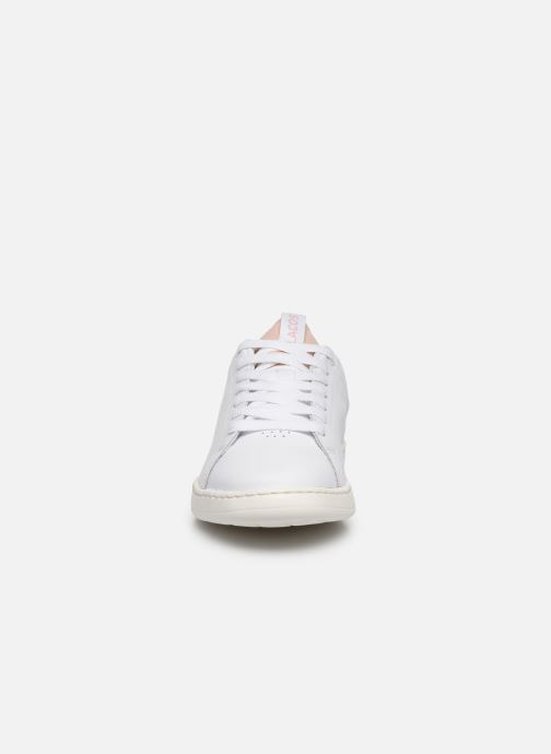Baskets Lacoste Carnaby Evo Light-Wt 1201Sfa Blanc vue portées chaussures