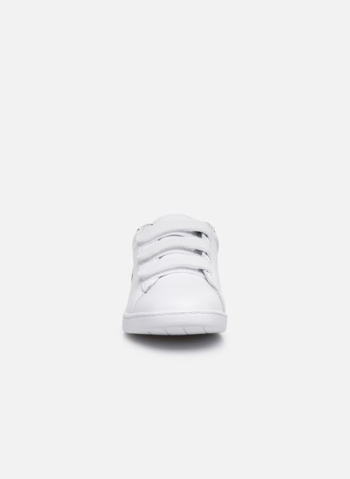 Baskets Lacoste Carnaby Evo Strap 1201Sfa Blanc vue portées chaussures
