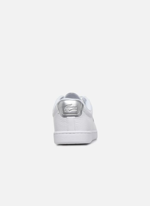 Baskets Lacoste Carnaby Evo 220 1 Sfa Blanc vue droite