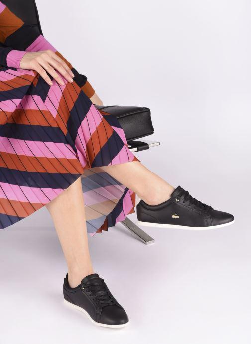 Baskets Lacoste Rey Lace120 1 Cfa Noir vue bas / vue portée sac