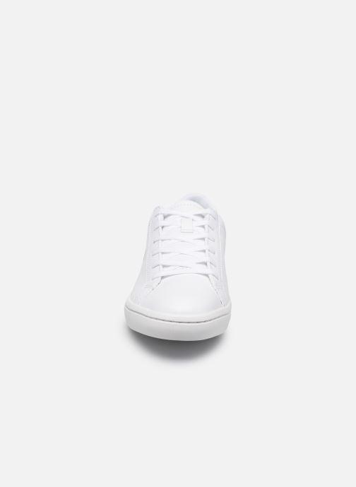 Sneakers Lacoste Straightset Bl 1 Cfa Bianco modello indossato