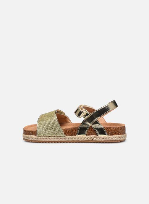 Sandales et nu-pieds Xti Sandales / 57058 Or et bronze vue face