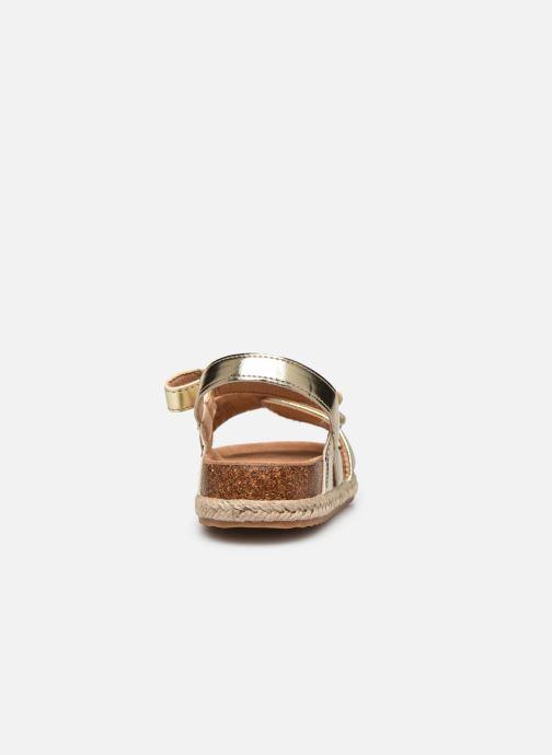 Sandales et nu-pieds Xti Sandales / 57058 Or et bronze vue droite