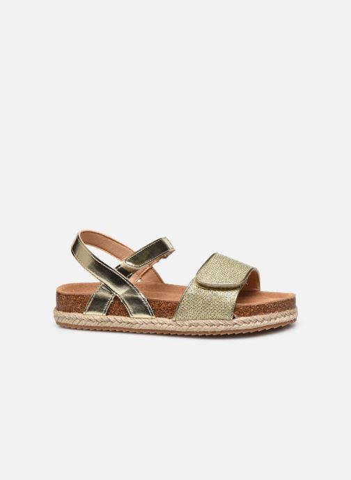 Sandales et nu-pieds Xti Sandales / 57058 Or et bronze vue derrière