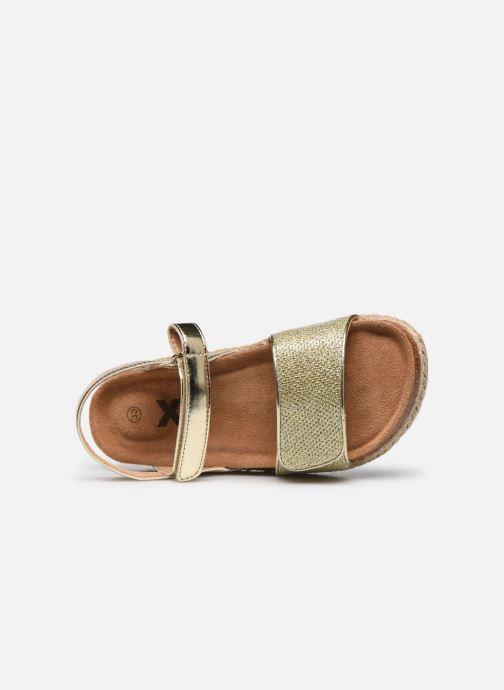 Sandales et nu-pieds Xti Sandales / 57058 Or et bronze vue gauche