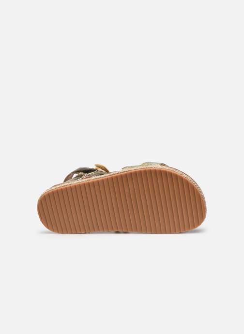 Sandales et nu-pieds Xti Sandales / 57058 Or et bronze vue haut