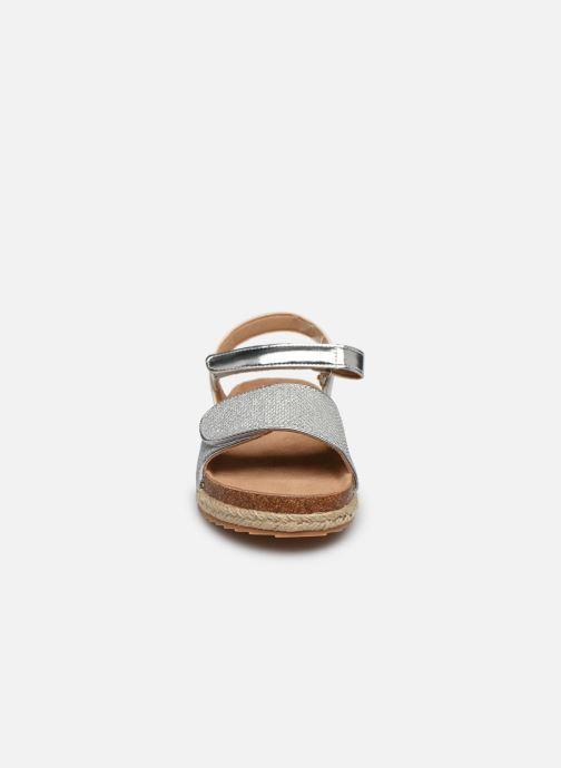 Sandalen Xti Sandales / 57058 silber schuhe getragen