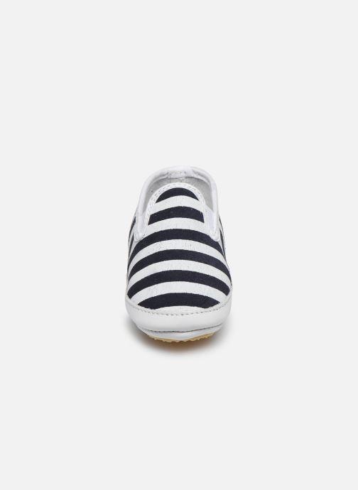 Pantofole Patt'touch Alix Azzurro modello indossato