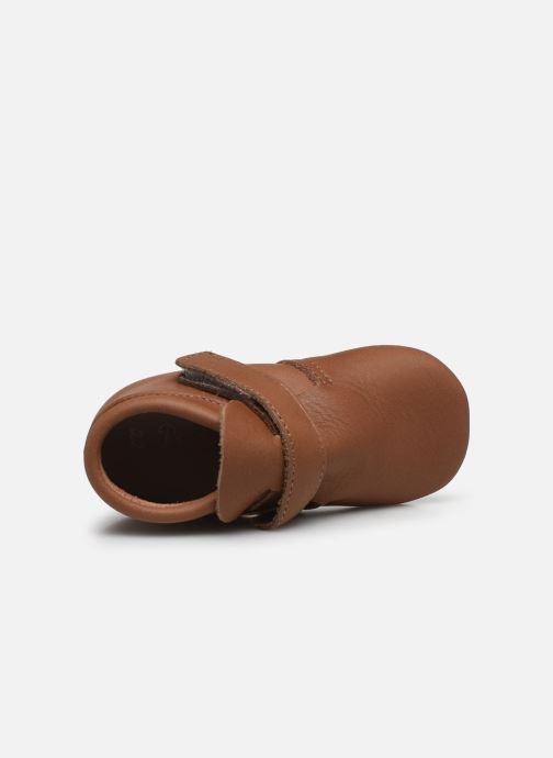 Pantofole Patt'touch Yael Marrone immagine sinistra