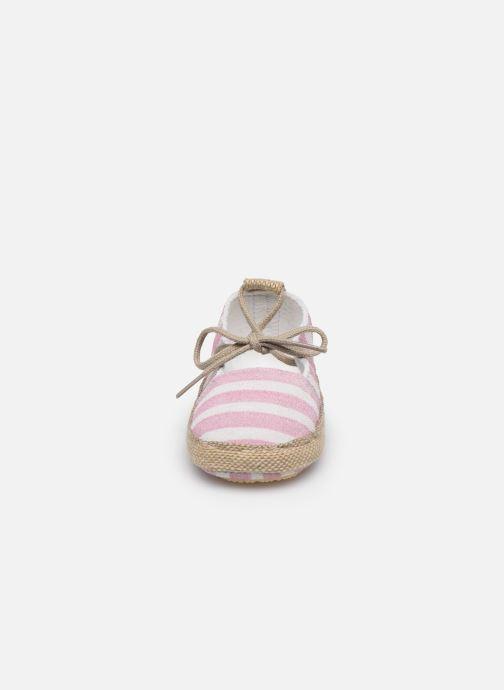 Chaussons Patt'touch Emma Rose vue portées chaussures