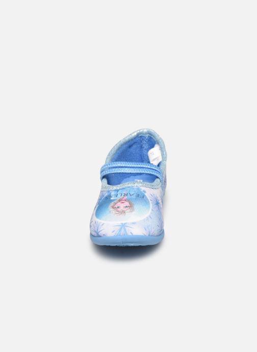 Chaussons Frozen Sadou Bleu vue portées chaussures