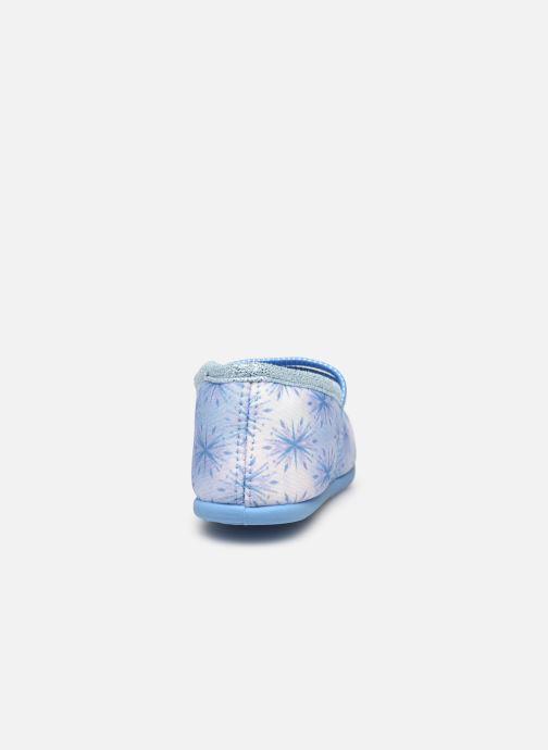 Chaussons Frozen Sadou Bleu vue droite