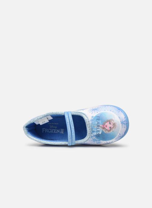 Pantuflas Frozen Sadou Azul vista lateral izquierda